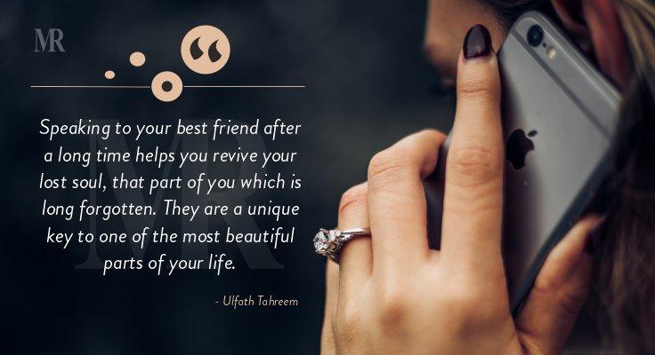 Ulfath Tahreem quote on friendship